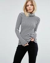 BOSS ORANGE Turtleneck Stripe Knit