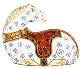 Royal Crown Derby Imari Horse Paperweight