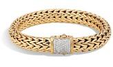 John Hardy Women's Classic Chain 10.5MM Bracelet in 18K Gold with Diamonds