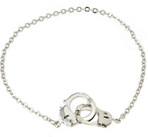 Bee Charming Silver Handcuff Anklet