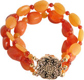 Barse FINE JEWELRY Art Smith by Orange Gemstone Stretch Bracelet