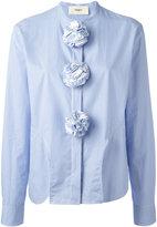 Ports 1961 seersucker pom-pom shirt - women - Cotton - 38