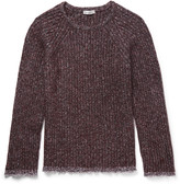 Valentino - Cotton-trimmed Wool-blend Sweater