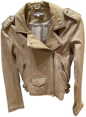 IRO Spring Summer 2020 Gold Leather Jacket for Women