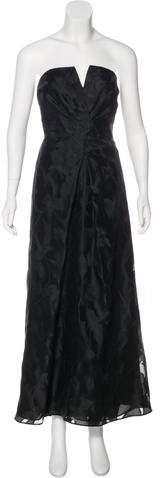 Armani Collezioni Strapless Evening Dress