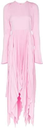 KHAITE Gerta pleated midi dress