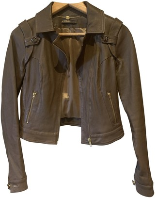 Supertrash Brown Leather Leather Jacket for Women