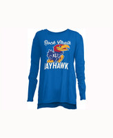 Royce Apparel Inc Women's Kansas Jayhawks Noelle Long-Sleeve T-Shirt