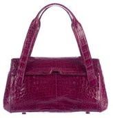 Nancy Gonzalez Crocodile Flap-Top Handle Bag