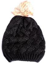 Point Zero Women's Knit Hat With Pompoms