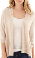 JCPenney A.N.A a.n.a 3/4-Sleeve Open-Front Oversized Cardigan