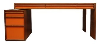 Artless Units Executive Desk Color: Orange