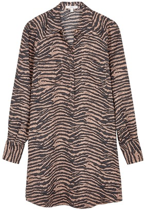 Joie Talma tiger-print chiffon shirt dress