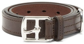 Andersons Topstitched Leather Belt - Brown