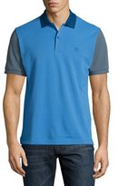 Burberry Colorblock Piqué Polo Shirt, Blue Pattern