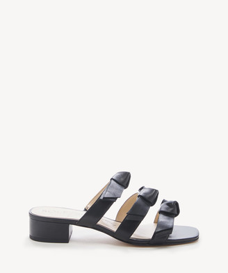 Sole Society Women's Ezah Bow Slides Sandals Black Size 5 Suede From