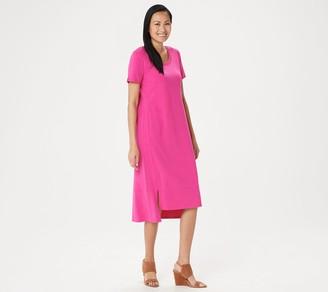 Halston H by Petite Essentials Scoop-Neck Midi Dress
