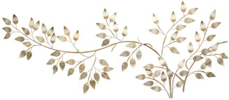 Stratton Home Decor Brushed Gold Flowing Leaves Wall Decor