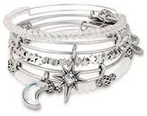 Alex and Ani Crystal Moon Star Charm Bracelet Set