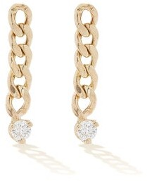 Zoë Chicco Diamond & 14kt Gold Drop Earrings - Gold