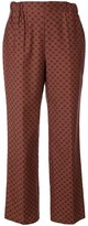 Muveil lips print straight trousers - women - Cotton/Cupro - 36