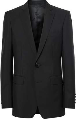 Burberry English Fit wool mohair tailored jacket