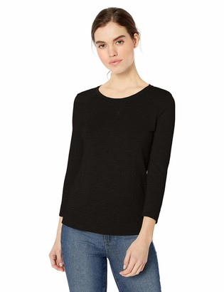 Daily Ritual Amazon Brand Women's Lightweight Lived-In Cotton 3/4-Sleeve T-Shirt