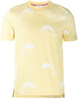 Thom Browne Allover Dolphin Icon Print Tee