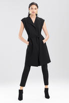 Josie Natori Double Knit Jersey Front Tie Dress