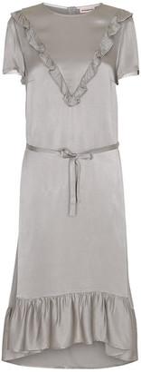 custommade Silver Birth Dress - DK 42 (UK 16) | viscose | silver - Silver/Silver