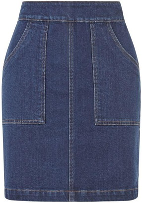 Warehouse Denim Patch Mini Pocket Skirt