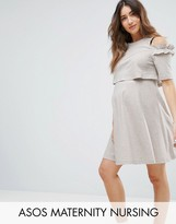 ASOS Maternity - Nursing ASOS Maternity NURSING Cold Shoulder Sweat Skater Dress