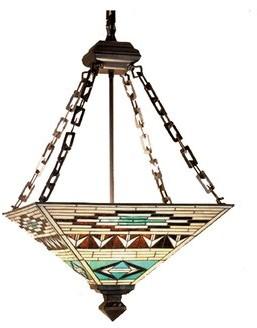 4 - Light Unique / Statement Bowl Pendant Meyda Tiffany
