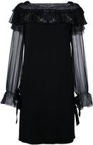Alberta Ferretti lace trim dress
