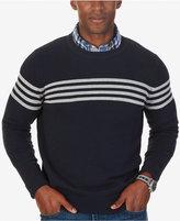 Nautica Men's Chest-Stripe Crew-Neck Sweater, Only at Macy's
