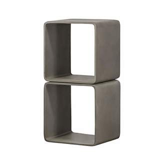 Limari Home LIM-76142 Beurling Collection Modern Style Living Room Concrete Cube Shelf/End Table