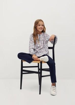 MANGO Floral print blouse off white - 5 - Kids