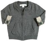 Burberry Zip-Up Cotton Knit Cardigan