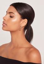 Missguided Moon & Star Detail Hoop Earrings Multi
