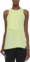 Alexander Wang Layered Georgette Sleeveless Tank, Citrine