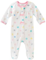 Absorba Infant Girls' Watercolor Print Footie - Sizes 0-9 Months