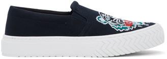 Kenzo Navy Tiger Head K-Skate Slip-On Sneakers