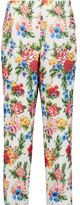 Emilia Wickstead Arabella floral woven tapered pants