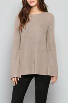 Fate Mocha Backtie Sweater
