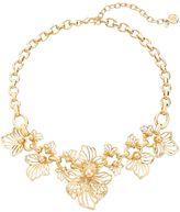 Dana Buchman Openwork Flower Statement Necklace