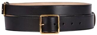 Alexander McQueen Leather Double Buckle Belt