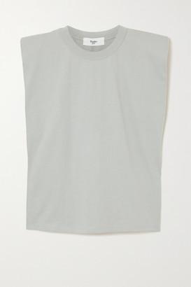 Frankie Shop Eva Cotton-jersey Tank - Light gray