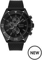 BOSS Boss Ocean Edition Black Chronograph Dial Black Silicone Strap Mens Watch