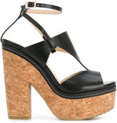 Jimmy Choo Noble 120 sandals - women - Calf Leather/Leather/rubber - 36