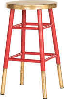 Safavieh Lacie Counter Stool, Red/Gold